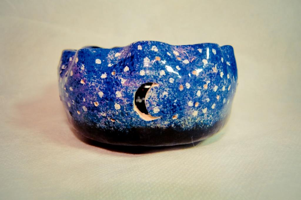 Night Sky Sponged Ceramic Bowl